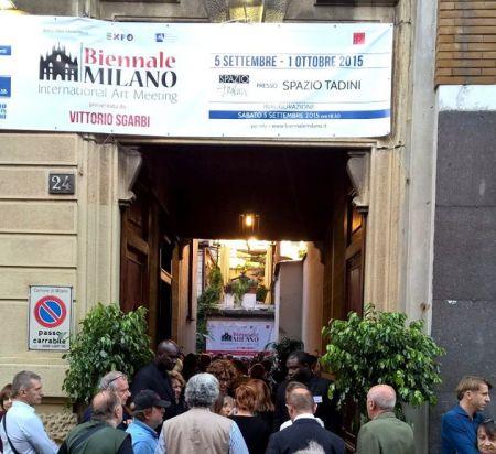 Biennale Milano - inaugurazione della grande mostra alla Casa Museo Spazio Tadini