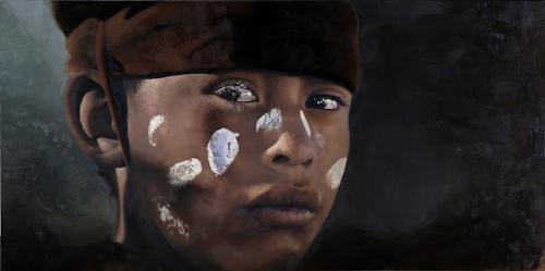 Patricia Guzman -Oparu- Brave, oil, 30-x 60-