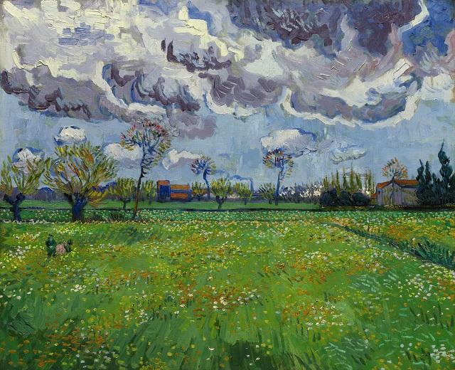 Vincent van Gogh PAYSAGE SOUS UN CIEL MOUVEMENTÉ