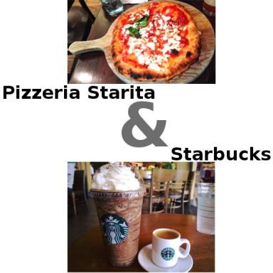 Pizzeria Starita e Starbucks